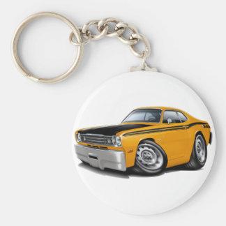1970-74 Duster 340 Orange Car Keychain