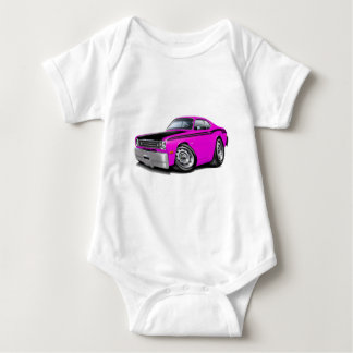 1970-74 Duster 340 Pink Car Baby Bodysuit