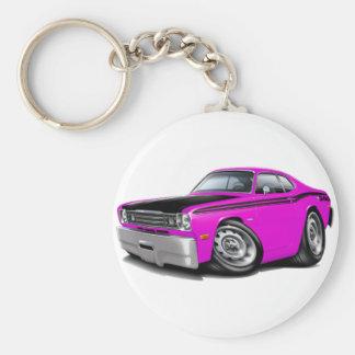 1970-74 Duster 340 Pink Car Basic Round Button Keychain