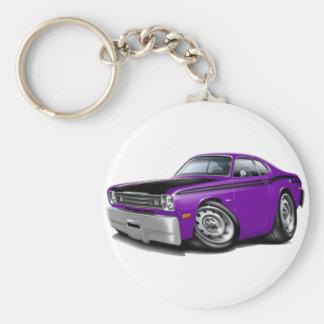 1970-74 Duster 340 Purple Car Basic Round Button Keychain