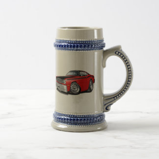 1970-74 Duster 340 Red Car Beer Stein