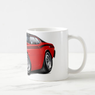 1970-74 Duster 340 Red Car Classic White Coffee Mug
