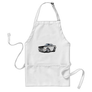 1970-74 Duster 340 White Car Adult Apron
