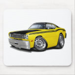 1970-74 Duster 340 Yellow Car Mouse Pad