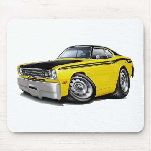 1970 74 duster 340 yellow car mouse pad zazzle. Black Bedroom Furniture Sets. Home Design Ideas