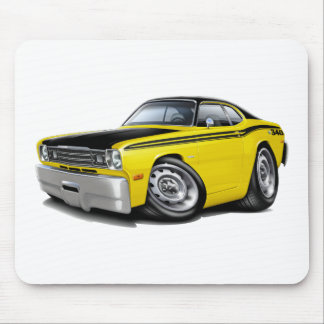 1970-74 Duster 340 Yellow Car Mouse Pads