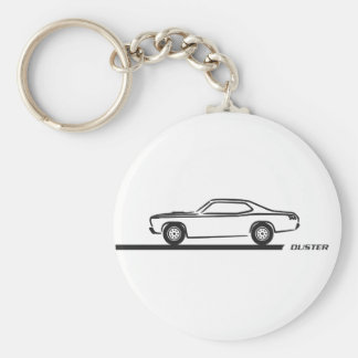 1970-74 Duster Black Car Basic Round Button Keychain