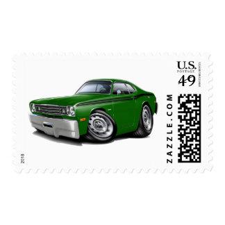 1970-74 Duster Green-Black Car Stamp
