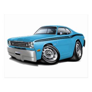 1970-74 Duster Lt Blue-Black Car Postcards