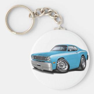 1970-74 Duster Lt Blue-White Car Keychain