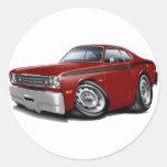 1970-74 Duster Maroon-Black Car Stickers