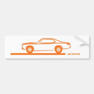 1970-74 Duster Orange Car Bumper Sticker
