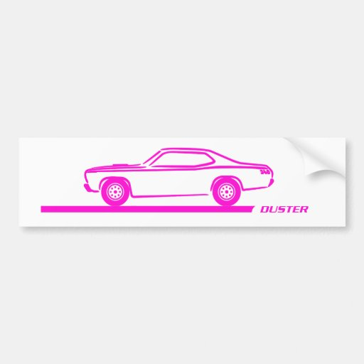 1970-74 Duster Pink Car Bumper Stickers