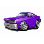 1970-74 Duster Purple Car Postcard
