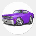 1970-74 Duster Purple Car Stickers