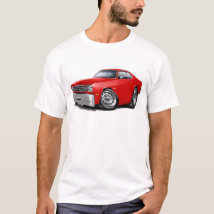 1970-74 Duster Red Car T-Shirt