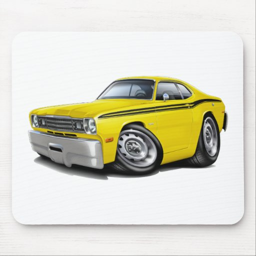 1970-74 Duster Yellow-Black Car Mouse Pad