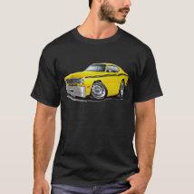 1970-74 Duster Yellow-Black Car T-Shirt