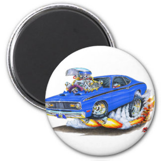 1970-74 Plymouth Duster Blue Car Magnet