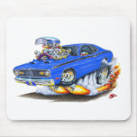 1970-74 Plymouth Duster Blue Car Mouse Pad