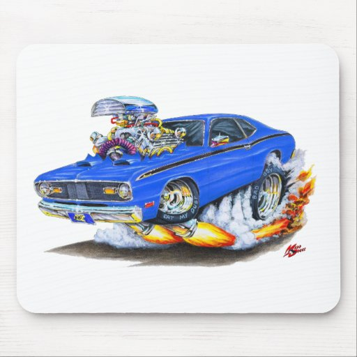 1970 74 plymouth duster blue car mouse pad zazzle. Black Bedroom Furniture Sets. Home Design Ideas