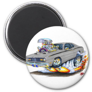 1970-74 Plymouth Duster Grey Car Magnet