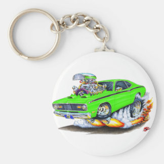 1970-74 Plymouth Duster Lime Car Basic Round Button Keychain