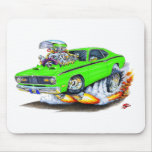 1970-74 Plymouth Duster Lime Car Mouse Pad