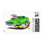 1970-74 Plymouth Duster Lime Car Stamp
