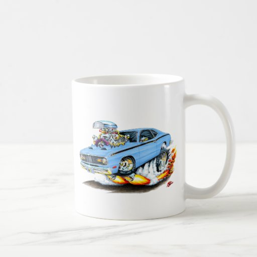 1970-74 Plymouth Duster Lt Blue Car Coffee Mug