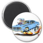 1970-74 Plymouth Duster Lt Blue Car Fridge Magnet