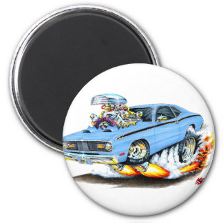 1970-74 Plymouth Duster Lt Blue Car Magnet