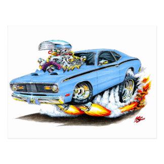 1970-74 Plymouth Duster Lt Blue Car Postcard