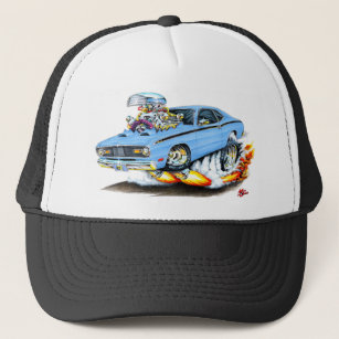 423fd13f949e4 1970-74 Plymouth Duster Lt Blue Car Trucker Hat