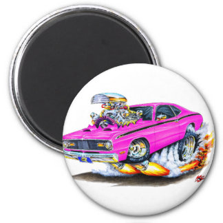 1970-74 Plymouth Duster Pink Car Magnet
