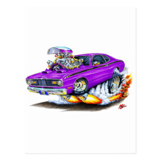1970-74 Plymouth Duster Purple Car Post Cards