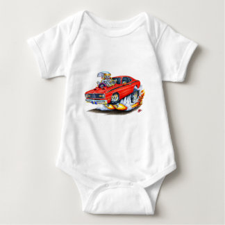 1970-74 Plymouth Duster Red Car Baby Bodysuit
