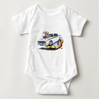 1970-74 Plymouth Duster White Car Baby Bodysuit
