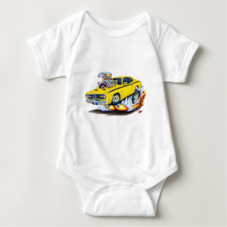 1970-74 Plymouth Duster Yellow Car Baby Bodysuit