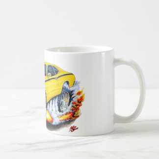 1970-74 Plymouth Duster Yellow Car Coffee Mug