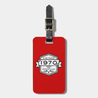 1970 Aged To Perfection Luggage Tags