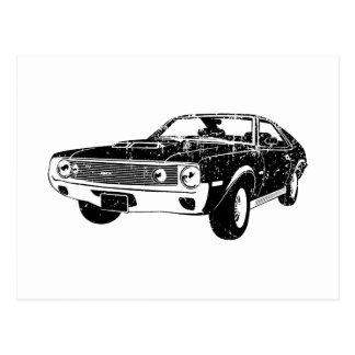 1970 AMC AMX 390 POSTCARD