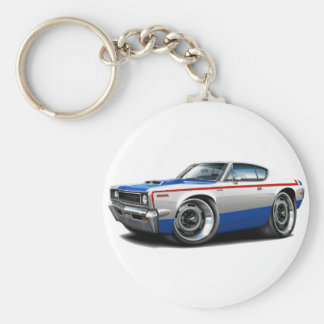 1970 AMC Rebel Machine Red-White-Blue Car Keychain