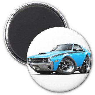 1970 AMX Big Bad Blue-Black Car 2 Inch Round Magnet
