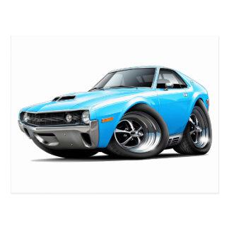 1970 AMX Big Bad Blue-White Car Postcard