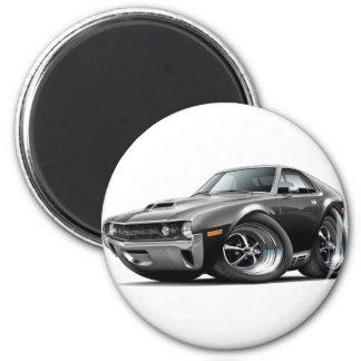 1970 AMX Black Car 2 Inch Round Magnet