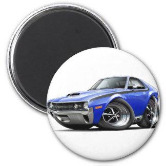 1970 AMX Blue-Black Car 2 Inch Round Magnet