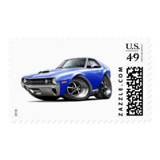 1970 AMX Blue-White Car Postage Stamp