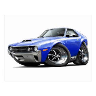 1970 AMX Blue-White Car Postcard
