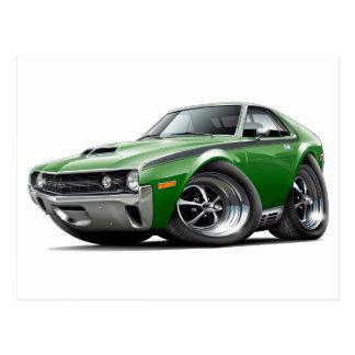 1970 AMX Green-Black Car Postcard